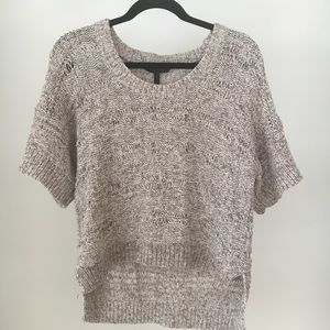 Distressed BCBG Short Sleeved Sweater